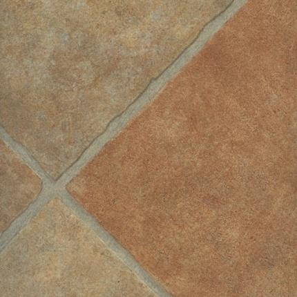 Sol pvc aspect carrelage diagonale en terre cuite sol pvc fins de roule - Sols pvc en rouleaux ...