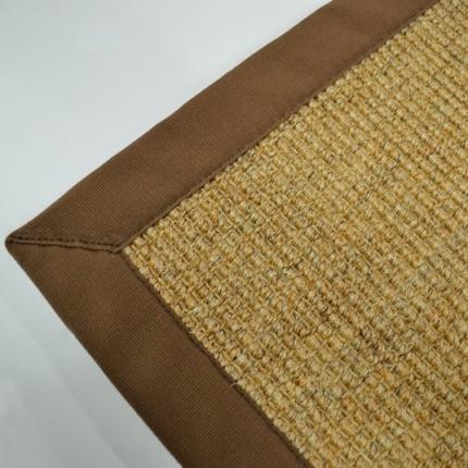 tapis jonc de montagne anapurna ganse coton brun 120 cm x 170 cm. Black Bedroom Furniture Sets. Home Design Ideas