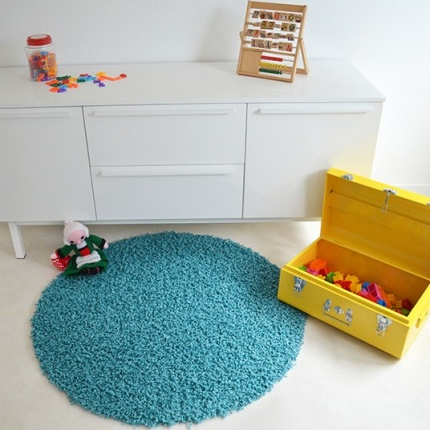 Tapis rond Shaggy Premier Turquoise