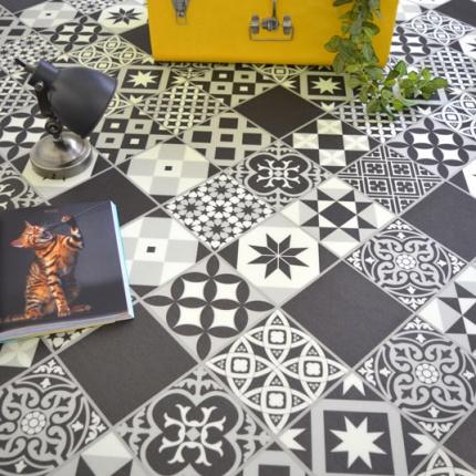 dalle sol pvc clipsable click 5g aspect carreaux de ciment. Black Bedroom Furniture Sets. Home Design Ideas