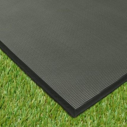 Tapis ext rieur pvc tress noir 120 x 180 cm for Tapis sol exterieur