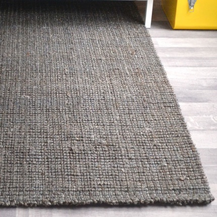 Tapis naturel Bohème 100% Jute - Marron Gris