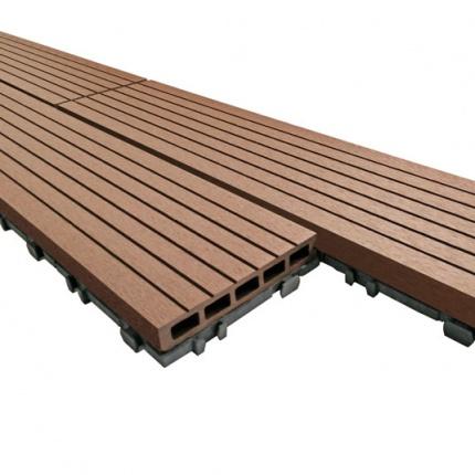 lame terrasse composite clipsable brun exotique 119 5 x 15 cm. Black Bedroom Furniture Sets. Home Design Ideas