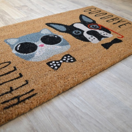 Paillasson Coco 45 x 75 cm - Chat & Chien