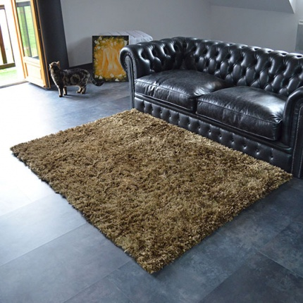 tapis pop poils longs marron. Black Bedroom Furniture Sets. Home Design Ideas
