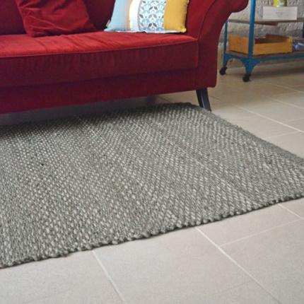 Tapis rivage jute et laine gris tapis naturel prix discount - Tapis a prix discount ...