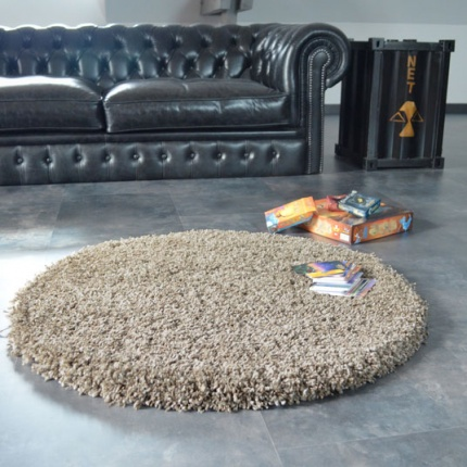 Déstockage Tapis Sweety Shaggy - Taupe chiné