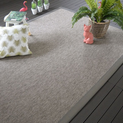 Tapis Mahé silver ganse synthétique Taupe