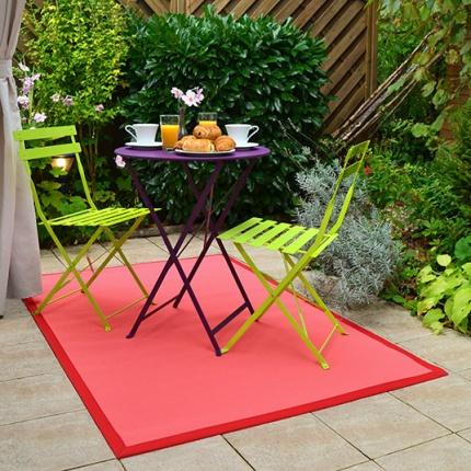 tapis ext rieur pvc tress rose corail. Black Bedroom Furniture Sets. Home Design Ideas