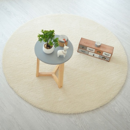 Tapis rond Cocoon Beige
