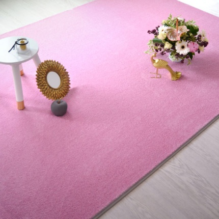 Tapis Paillettes Star - Rose - Galon gris clair - 140 x 200 cm