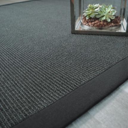 tapis sisal yucatan noir ganse noire 140 x 200 cm. Black Bedroom Furniture Sets. Home Design Ideas